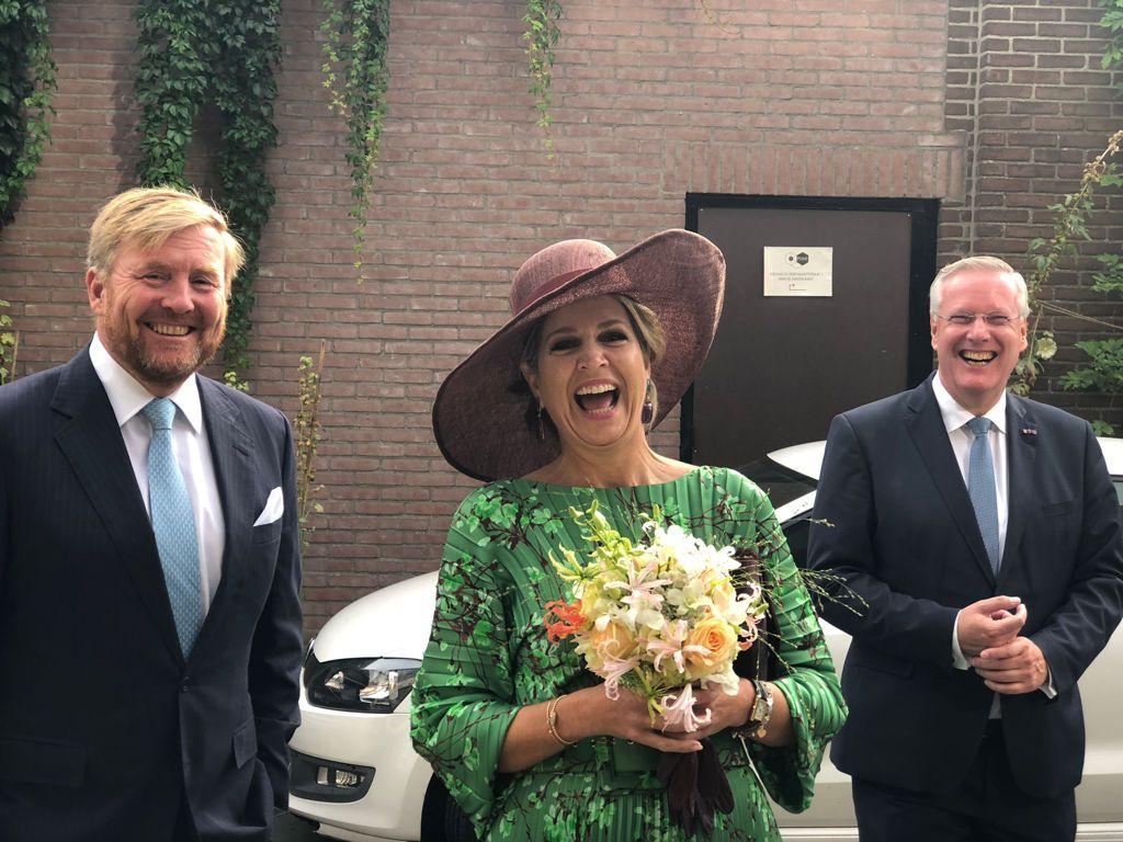 Koning Willem Alexander, Koningin Maxima en Commissaris van de Koning Andries Heidema